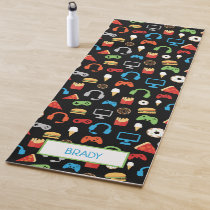 Kids Personalized Video Game Tech Party Gamer Yoga Mat
