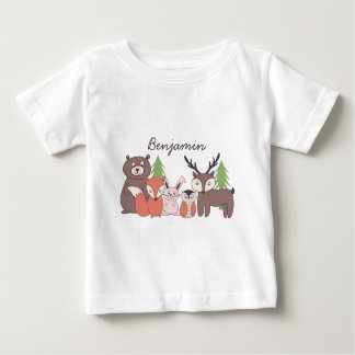 Kids Personalized Woodland Theme T-shirt