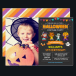 """Kids Photo Halloween Birthday Costume Party Invite<br><div class=""""desc"""">Kids Photo Halloween Birthday Costume Party Invitation. (1) For further customization, please click the """"customize further"""" link and use our design tool to modify this template. (2) If you prefer Thicker papers / Matte Finish, you may consider to choose the Matte Paper Type. (3) If you need help or matching...</div>"""