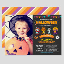 Kids Photo Halloween Birthday Costume Party Invite