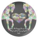 Kids Picky Eaters Plate - Rainbow Horses