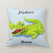 Kid's Pillow Cute Baby Alligator