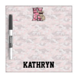 Kid's Pink Camouflage Dry Erase Board