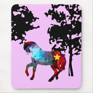 Kids Pink Horse Mouse Pad