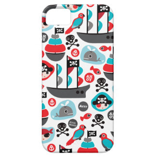Kids pirate ship parrot and skull art iPhone SE/5/5s case