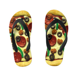 Kids Pizza Birthday Party Kid's Flip Flops