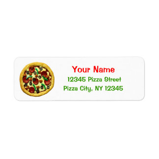Kids Pizza Birthday Party Label