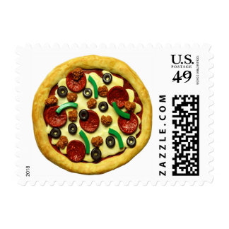 Kids Pizza Birthday Party Postage Stamp
