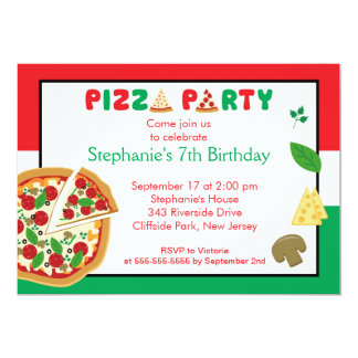 kids pizza party birthday party invitation - Pizza Party Invitation