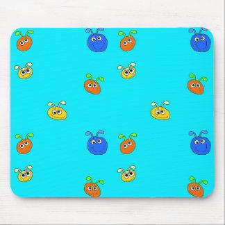 Kid's Placemat Mousepad Light Blue Bugs Mouse Pad
