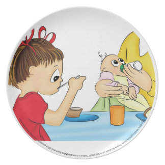 """Kid's Plate """"I Have No Book. I Am Too Small"""""""