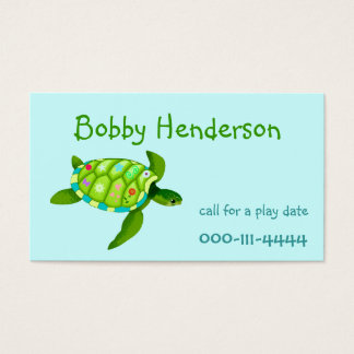 Kid's Play date calling card