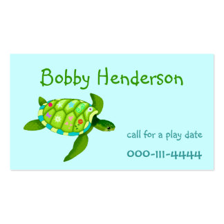 Kid's Play date calling card Business Card