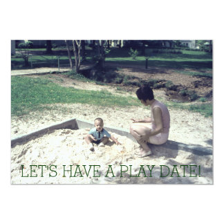 Kids Play Date Retro Sandbox at Playground Card