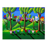 Kids Play Red Rover Post Card
