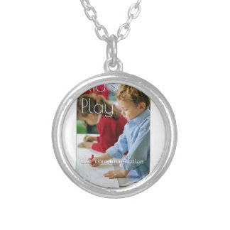 Kid's Play: Use Your Imagination (Love Edition) Round Pendant Necklace
