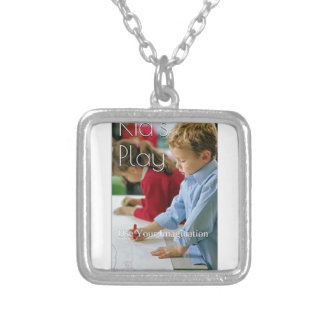 Kid's Play: Use Your Imagination (Love Edition) Square Pendant Necklace