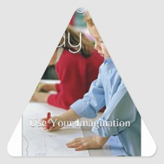 Kid's Play: Use Your Imagination (Love Edition) Triangle Sticker