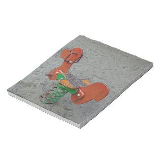 Kids Playground Orange Dog Toy in Sand Notepad
