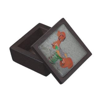 Kids Playground Orange Dog Toy in Sand Premium Jewelry Box