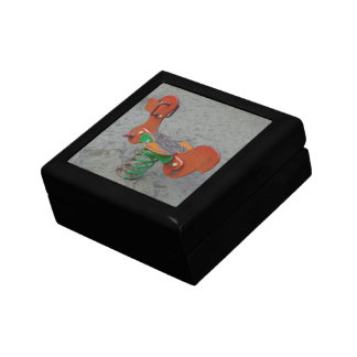Kids Playground Orange Dog Toy in Sand Trinket Box