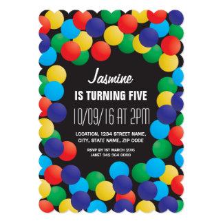 Kids Playhouse Coloured Balls Pit Birthday Card