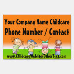 Kids Playing Childcare Daycare Yard Sign