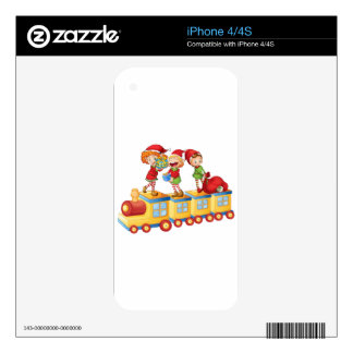 kids playing on train skin for iPhone 4S