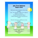"""Kids Playing Outdoors on a Sunny Day 4.5"""" X 5.6"""" Flyer"""