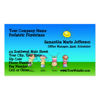 Kids Playing Outdoors on a Sunny Day Appointment Double-Sided Standard Business Cards (Pack Of 100)
