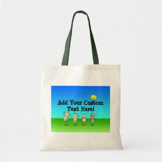 Kids Playing Outdoors on a Sunny Day Bag