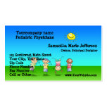Kids Playing Outdoors on a Sunny Day Business Card