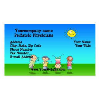 Kids Playing Outdoors on a Sunny Day Business Card Template