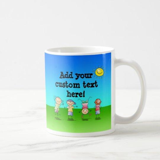 Kids Playing Outdoors on a Sunny Day Coffee Mug