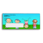 Kids Playing Outdoors on a Sunny Day Envelope