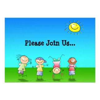 Kids Playing Outdoors on a Sunny Day Invite