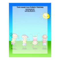 Kids Playing Outdoors on a Sunny Day Letterhead