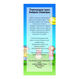 Kids Playing Outdoors on a Sunny Day Rack Card Design