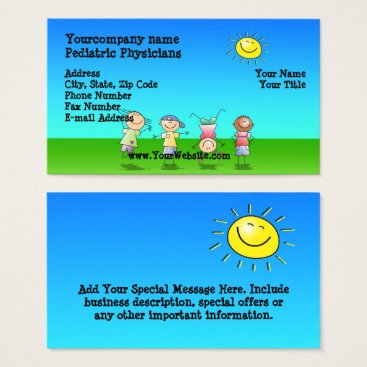 Toddler & Baby themed Kids Playing Outdoors, Sunny Day Business Cards