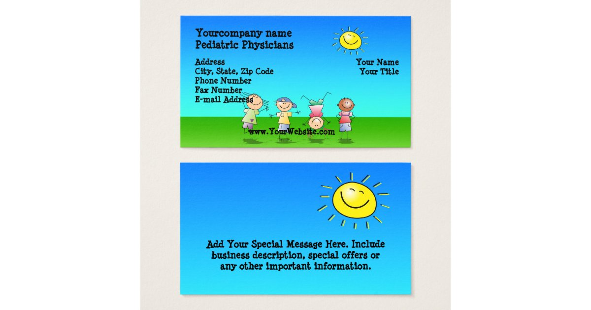 Kids Playing Outdoors, Sunny Day Business Cards | Zazzle.com