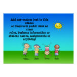 Kids Playing Personalized Classroom Poster