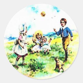 Kids Playing Sticker