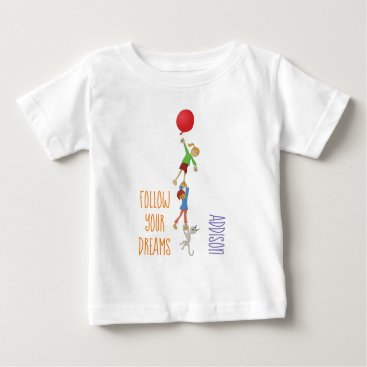 Kids playing with balloons baby T-Shirt