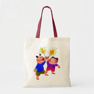 Kids Playing with Fireworks Bag