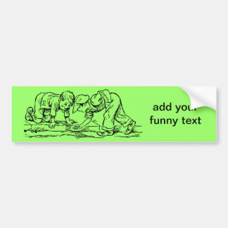 Kids Playing with Marbles - Add Your Text Bumper Sticker