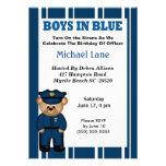 Kids Policeman Birthday Invitation