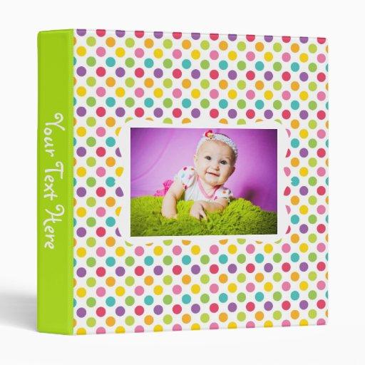 Kids Polka Dot Photo Album 3 Ring Binders
