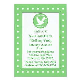 Kids Polka Dots And Puns Birthday Party Card