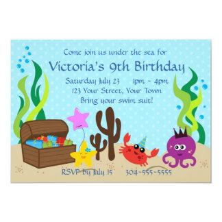 Kids Pool Birthday Party Card