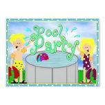 Kids Pool Party Invitation